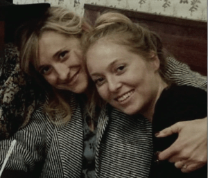 Allison Mack with India Oxenberg