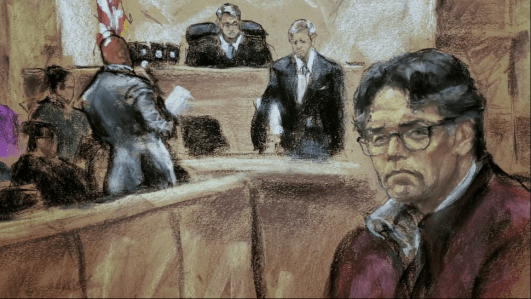 Sketch of Keith Raniere Trial