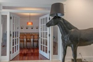 Sara Bronfman House Horse Lamp