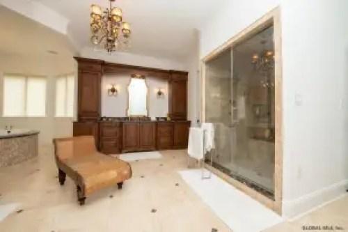 Master bathroom dressing area