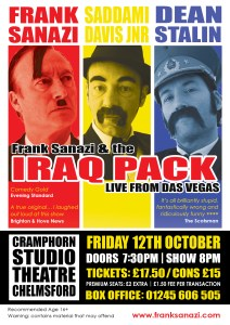 Frank Sanazi and The Iraq Pack Chelmsford 2018