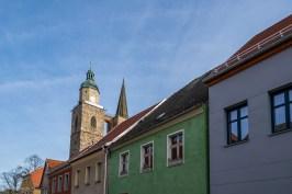 Nikolaikirche von der Nikolaikirchstraße gesehen