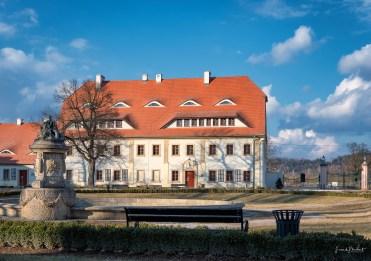 Im Hof von Schloss Schildau