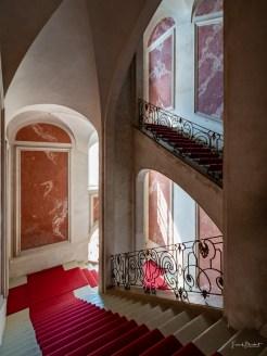 Über die Kaisertreppe verlässt der Besucher die Ausstellung wieder