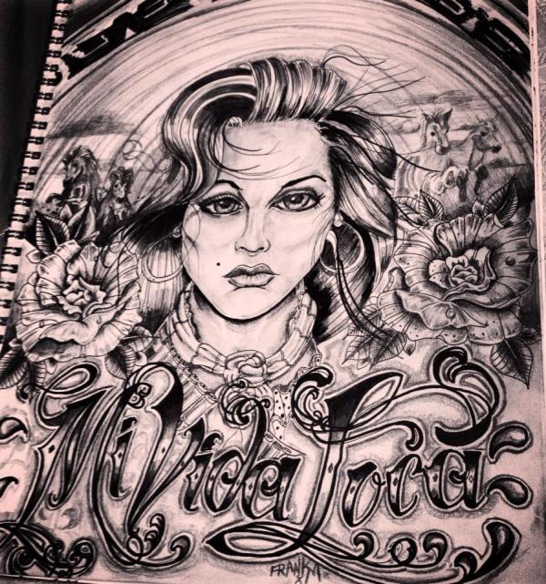Tattoo Tattooart Chicano Mividaloca Art Sketching Drawing