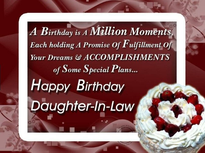 Happy Birthday Wishes Daughter In Law ~ Best birthday wishes for daughter in law 2017 franksms