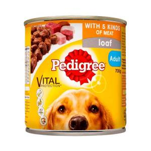 700g Pedigree Loaf With 5 Kinds Of Meat Adult Wet Dog Food Can