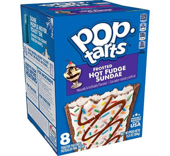 Pop Tarts Frosted Hot Fudge Sundae 384g - 8 Toaster Pastries - USA