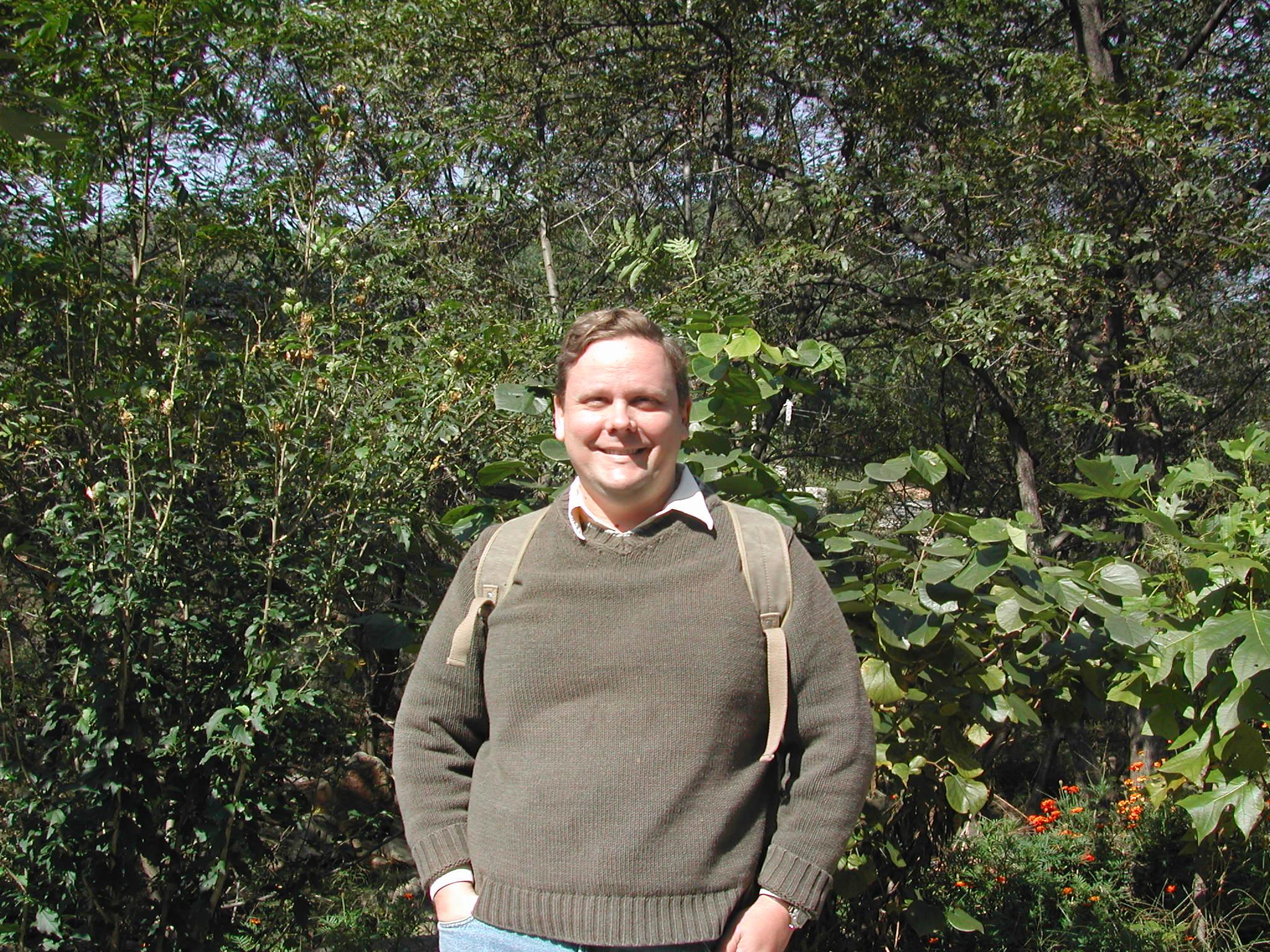 Me backpacking in Kunyu National Park, Shandong, China