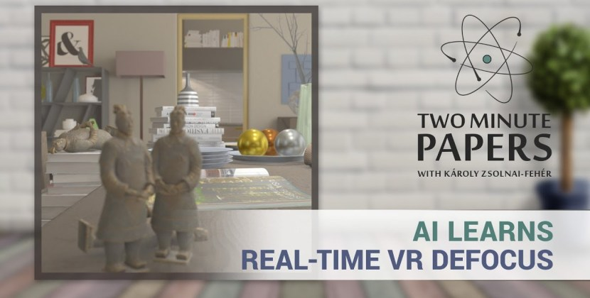 AI Learns Real-Time Defocus Effects in VR