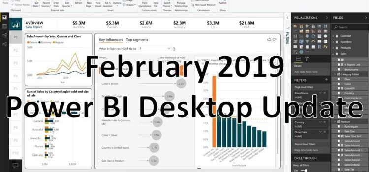 PowerBI Desktop Updates for February 2019