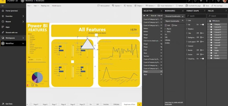 Personal Bookmarks in the Power BI Service