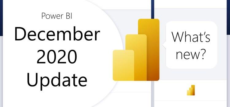 Power BI Update – December 2020