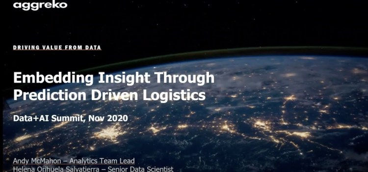 Embedding Insight through Prediction Driven Logistics