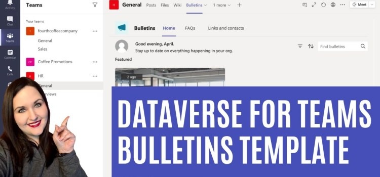 Dataverse for Teams Bulletin Template