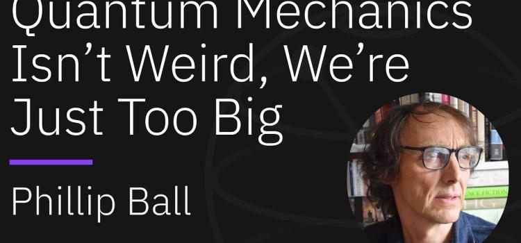 Quantum Mechanics Isn't Weird, We're Just Too Big