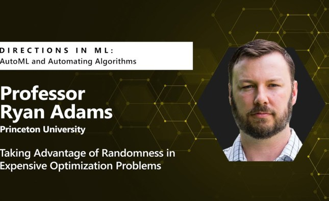 Directions in ML: Taking Advantage of Randomness in Expensive Optimization Problems