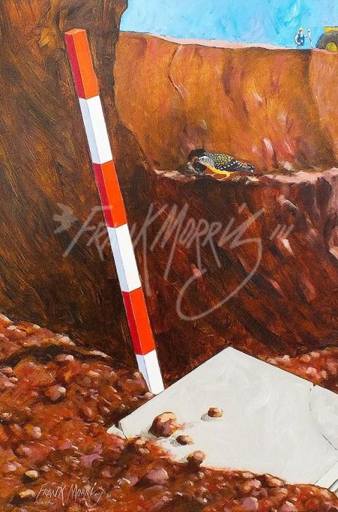 (Y577) Excavators 80 x 40 cm $150