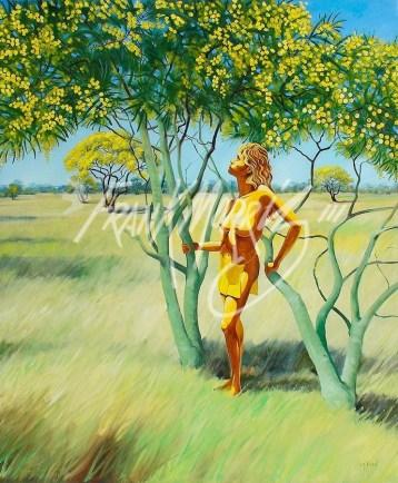 (KY347) Mayra – Spirit of Spring 110 x 91.5 cm $400