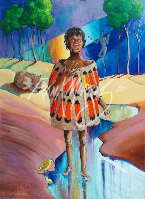 (Y706) On the 7th Day She Stands Up 110 x 80 cm $350