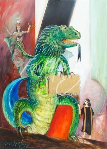 (Y603) 121 x 91 cm Æëtes Has a Dragon Protect the Fleece $450