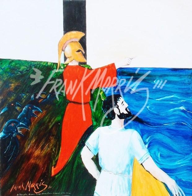(Y606) The Evil Pelias Sends Jason After the Fleece 91 x 91 cm $375