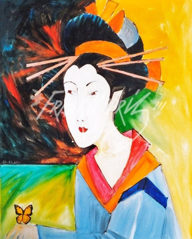 (Y667) Geishi (Lio-Lio San) 76 x 61 cm $200