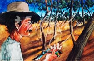 (Y558) John Gilbert Holds Paradise 1844 60 x 89 cm $250
