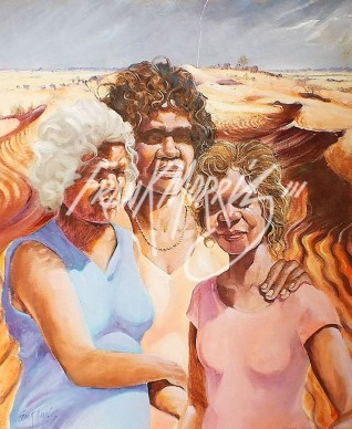 (KY344) Nyarra, Bakkano & Bakkare 61 x 51 cm $225