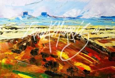(YPK140) Mt Beale Range 26 x 30 cm