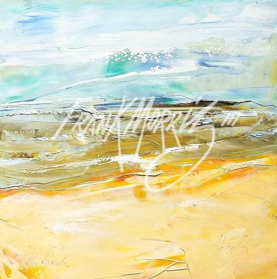 (YPK98) On the Beach 21 x 20 cm $50