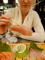 So dick ist hier Sashimi