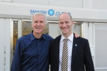 Frank Wouters and James Cameron