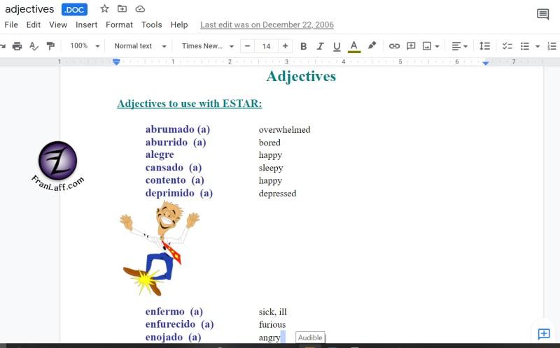DOCadjectives