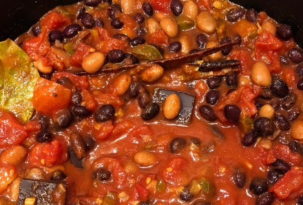 My new and improved bean chilli