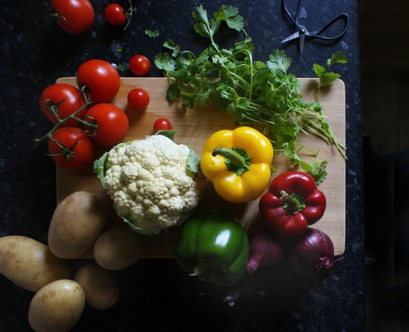 Take some fresh veg...
