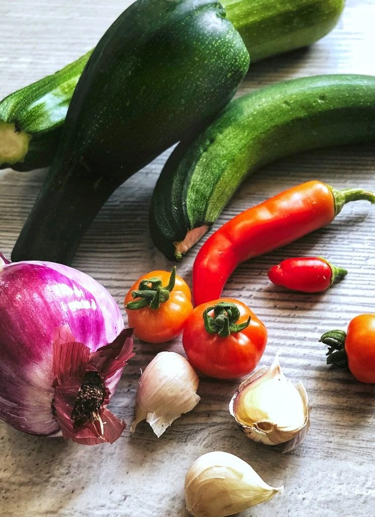 Fresh vegetables for easy vegetable tagine recipe