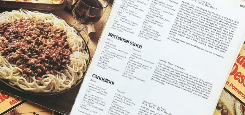 Vintage M&S cookery books open on a favourite recipe