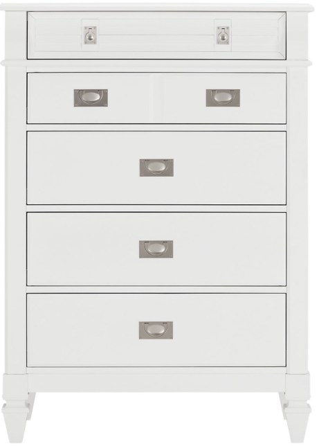 Marina White Wood Chest