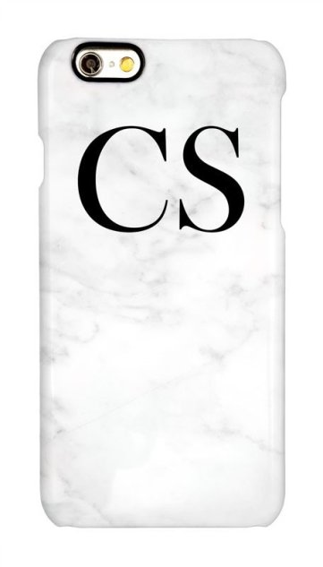 Willow of London personalised phonecase white marble