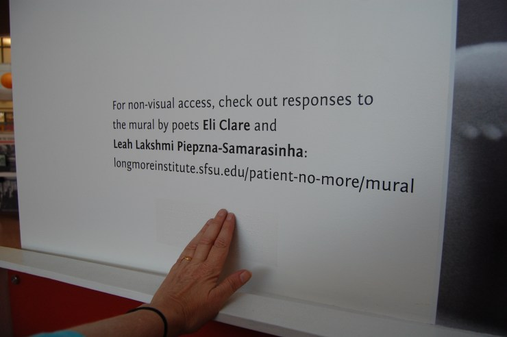 For non-visual access two poets were commissioned to write an interpretation of the mural, available for download on the project website