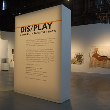 """Large text states: """"DIS/PLAY: A Disability Take-over Show"""