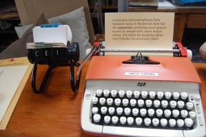 """A 1970s typewriter to highlight how far accessibility has come, though there is still """"Room for improvement"""""""