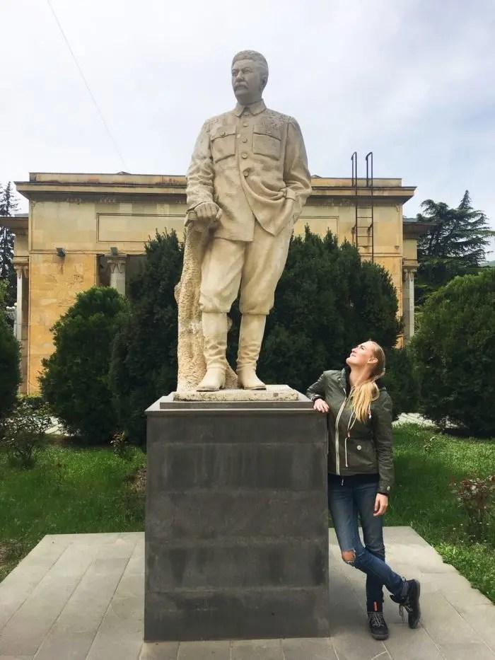 Stalin statue outside his museum in Gori