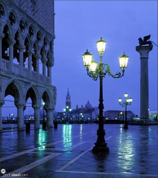Early morning at Piazza San Marco (St Mark square), Venice, Italy