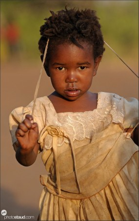 Village girl, Zambia