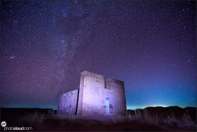 Milky way above Lion Temple of Musawwarat, Sudan