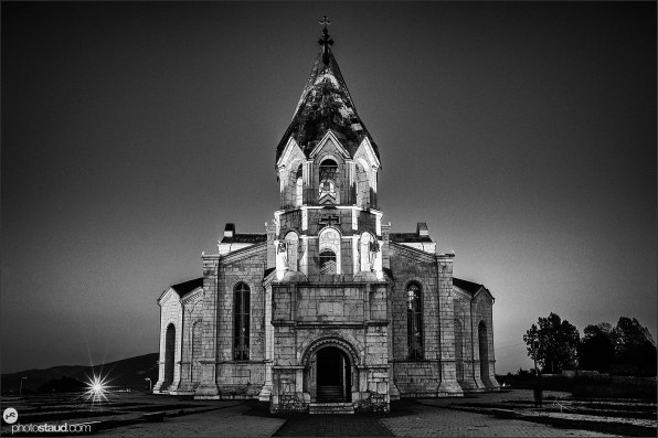 Ghazanchetsots, renovated Christian cathedral in Shusha, Nagorno-Karabakh