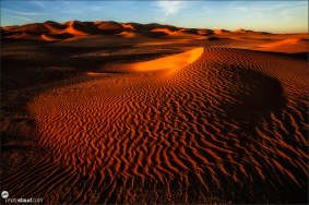 Landscape of Empty Quarter, Rub al Khali Desert, Oman