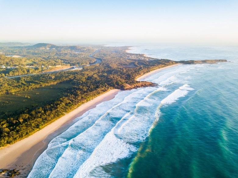 Emerald Beach Aerial - Franzi Photography